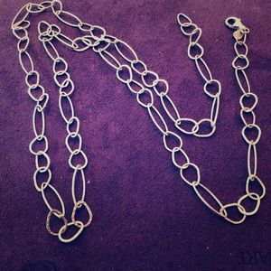 """Silpada Sterling Silver 31"""" Oval Link Necklace"""